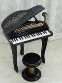 電子琴 兒童鋼琴玩具電子琴男女孩1初學者2-3歲寶寶生日周歲禮物帶話筒6 MKS阿薩布魯