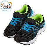 《布布童鞋》asics亞瑟士CONTEND7黑曜藍色兒童慢跑運動鞋(17.5~22公分) [ J1D194D ]