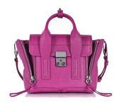 3.1 Phillip Lim Pashli Mini 小款 壓紋牛皮 手提包 肩斜背包 兩用包 紫紅