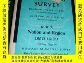 二手書博民逛書店AMERICAN罕見LITERATURE SURVEY NATION AND REGION 1860-1900