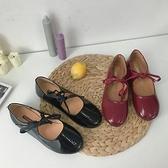 娃娃鞋 日系娃娃鞋2021夏季新款韓版復古淺口圓頭系帶平底chic瑪麗珍單鞋 小衣里大購物