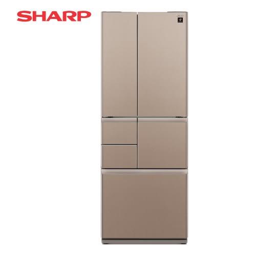 [SHARP 夏普]501公升 六門對開冰箱 - 星鑽棕 SJ-GT50BT-T