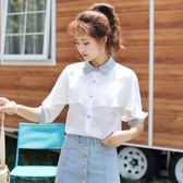 夏季新款軟妹甜美超仙中袖小清新雪紡襯衫女短袖 GB3353『樂愛居家館』