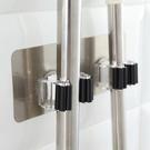無痕多功能拖把掛架(雙夾款) 透明吸盤  拖把架 掃把架 浴室夾 免打孔【P614】MY COLOR