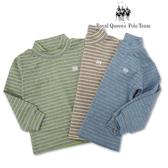 台灣製兒童套頭半高領長袖條紋上衣*3色 [6608]RQ POLO 秋冬童裝