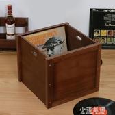 黑膠唱片LP收納箱黑膠架桌面黑膠唱片收納架CD架黑膠收藏箱CY『小淇嚴選』