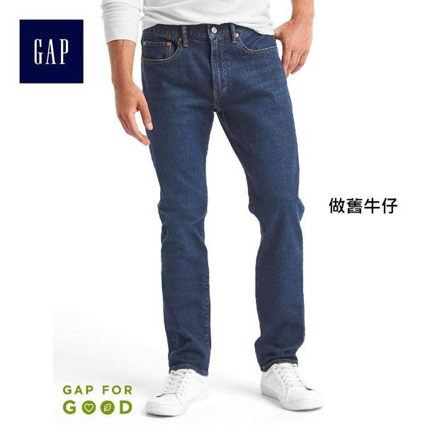 Gap男裝 經典五袋彈力修身牛仔褲 321515-做舊牛仔