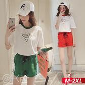 時尚字母印花短袖T恤+運動褲套裝 M-2XL O-ker歐珂兒 162161