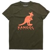 KANGOL 軍綠 大LOGO  袋鼠 棉 短T 男 (布魯克林) 6921100572