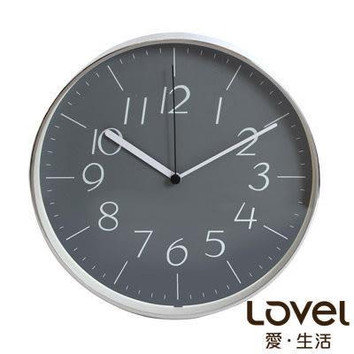 里和Riho LOVEL 25cm灰色時空鋁框靜音壁掛時鐘(DGY722) 台灣製造,高品質機芯