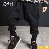 新款韓版兒童褲子秋冬加絨外穿哈倫褲加厚棉褲