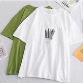 小盆栽印花棉T上衣 獨具衣格