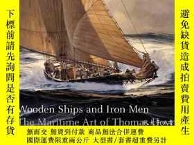 二手書博民逛書店B0044KMXAM罕見Wooden Ships & Iron Men: The Maritime Art of