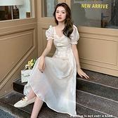 洋裝 優雅仙女亮絲連身裙-媚儷香檳-【D1558】
