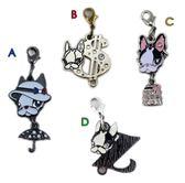【卡漫城】 Crystal Ball 吊飾 四款選一 ㊣版 全家 字母 水鑽 掛飾 鑰匙圈 法國 鬥牛犬 狗頭 時尚單品