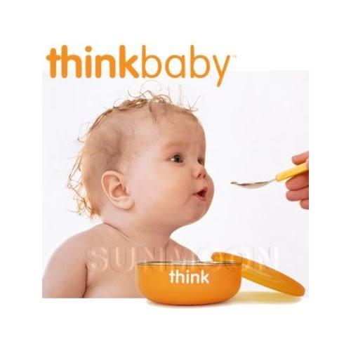 ThinkBaby 不鏽鋼寶寶碗(淺碗)橘色[衛立兒生活館]