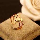 戒指 玫瑰金純銀-時尚高貴生日情人節禮物女飾品73by37【時尚巴黎】