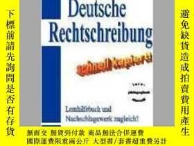 二手書博民逛書店Deutsche罕見Rechtschreibung - schnell kapiert!Y405706 Lot