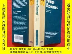 二手書博民逛書店Human罕見Resources: 3rd Edition (B