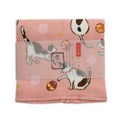AKACHAN阿卡將 雙層(紗布+毛巾)25×38厚質手帕-貓咪(橙)