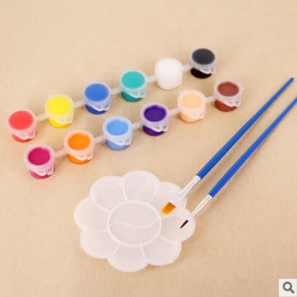 兒童丙烯顏料DIY塗鴉彩繪顏料陶瓷石膏風箏繪畫填色丙烯顏料─預購CH5060