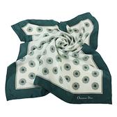 Christian Dior 星芒圓點緞面領帕巾(綠) 179001-2