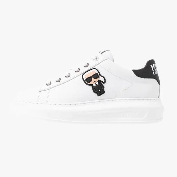 Karl Lagerfeld 卡爾 老佛爺 女鞋 KAPRI IKONIK綁帶休閒鞋-白