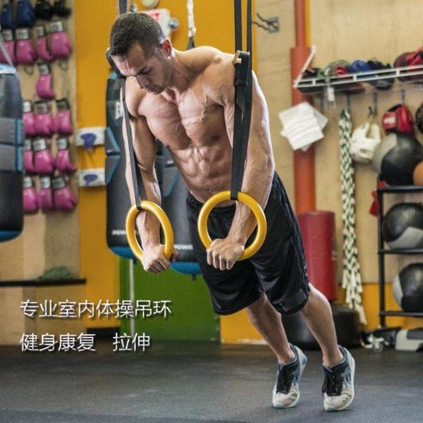 吊環可調節家用室內健身器材體操 ABS吊環圈康復運動 健身拉環 晴天時尚館