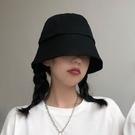 黑色日系水桶漁夫帽女夏季薄款韓版潮防曬紫外線遮陽帽子百搭遮臉 陽光好物