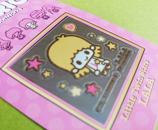 【震撼精品百貨】Little Twin Stars KiKi&LaLa 雙子星小天使~貼紙-金蒔繪-娜娜