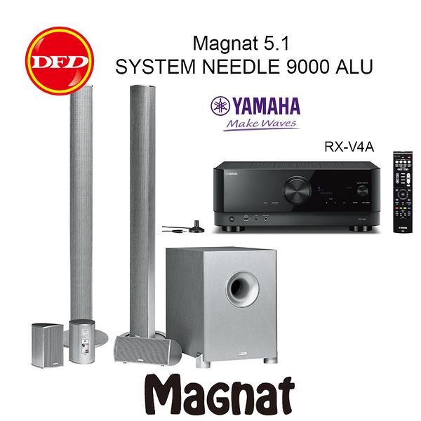 德國 Magnat 5.1 SYSTEM NEEDLE 9000 ALU 黑 / 白 搭配 YAMAHA RX-V4A 5.2聲道擴大機 公司貨