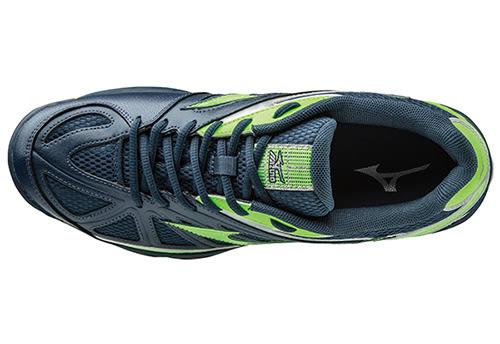 MIZUNO 美津濃 排球鞋 WAVE HURRICANE 2 (丈青*綠) 2016新款