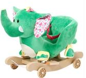 兒童早教玩具交換禮物實木大象搖馬嬰兒益智玩具寶寶搖搖椅早教兩用【全館88折起】