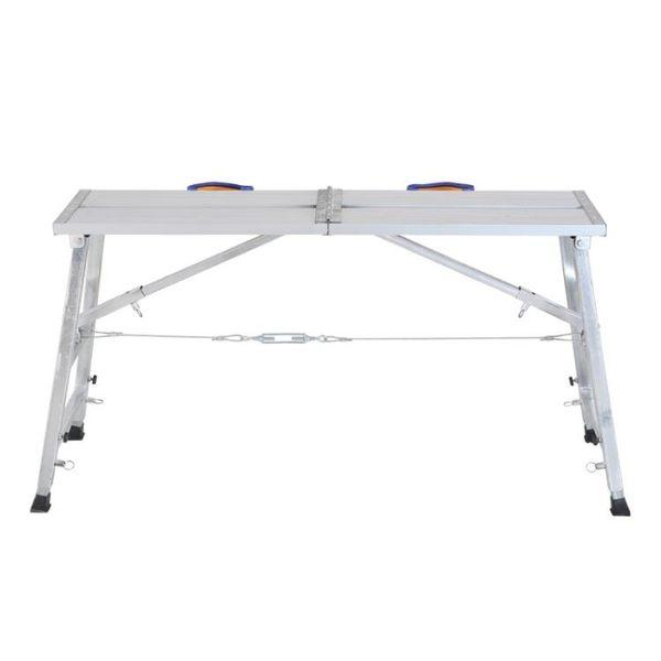 鋁合金多功能裝修折疊馬凳升降腳手架加厚便攜刮膩子家用平台梯子 MKS免運
