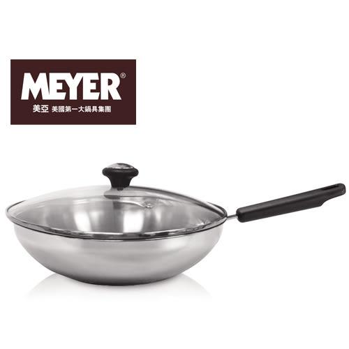 美亞不鏽鋼單柄炒鍋-有蓋(30cm)【愛買】