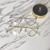Miinwoo韓國復古金屬眼鏡框超輕素顏平光圓臉男女鏡架