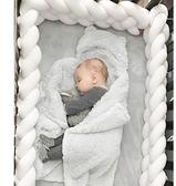 ins丹麥嬰兒床床圍麻花辮子長條打結四股加高圍欄兒童房裝飾定做 向日葵