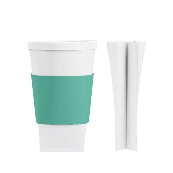 折折杯 16oz/綠松石色杯套【福爾福】