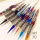 義大利 Bortoletti set30 玻璃沾水筆+墨水(有八色可選)21501170599493 / 組