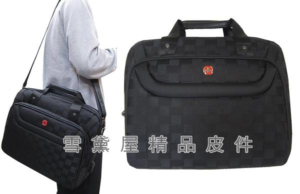 ~雪黛屋~OVER LAND 文件包中容量主袋+外袋共四層USB充電二層主袋可A4資夾防水尼龍布附長背T5406
