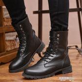 馬丁靴  男士馬丁靴加絨保暖英倫韓版軍靴中筒高筒男靴子冬季棉靴防水皮靴  凱斯盾數位3c