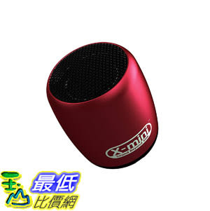 [8美國直購] 揚聲器 X-Mini CLICK Portable Bluetooth Speaker with Shutter Remote - Red B01HGIUJN6