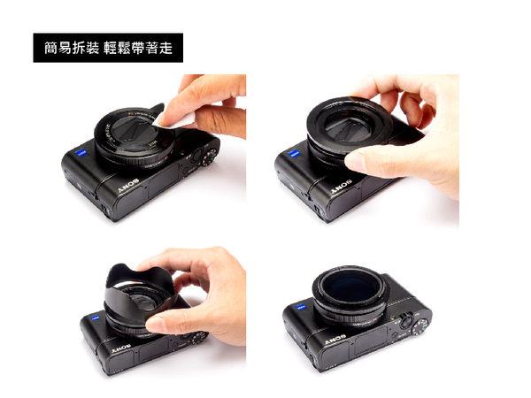 【STC】轉接環快拆遮光罩組 for SONY RX100 系列相機〈CPL 套組〉
