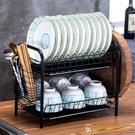 碗筷餐具收納盒晾放碗碟盤子臺面置物架廚房碗碟架【小獅子】
