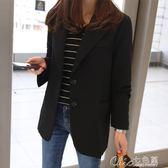 馬甲早春外套蕾可妮斯小西裝女春秋女士西服長袖修身顯瘦短款外套 七色堇