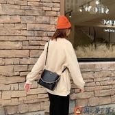 時尚簡約百搭包包斜背包女百搭側背水桶包【淘夢屋】