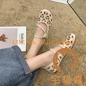 洞洞涼鞋女夏季鏤空單鞋舒適軟底護士鞋休閒舒適平底豆豆鞋【橘社小鎮】