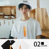 T恤 Jerryshop【XH8119S】原創溫度方塊插圖短T(2色) 情侶款 S~XL 美國純棉好穿