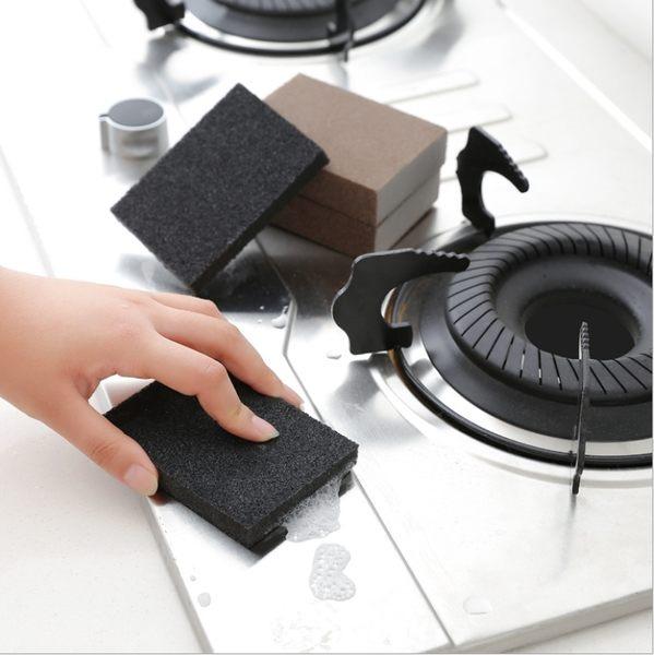 秋奇啊喀3C配件-1374納米金剛砂除垢清潔廚房多用魔力擦 除鍋底焦漬細砂海綿擦