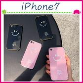 Apple iPhone7 4.7吋 Plus 5.5吋 電鍍笑臉俠背蓋 眨眼晴手機套 TPU保護套 全包邊手機殼 鏡面保護殼 反光
